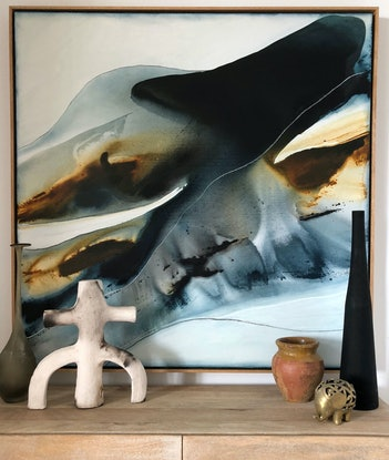(CreativeWork) Waverider by Dinah Wakefield. Acrylic Paint. Shop online at Bluethumb.