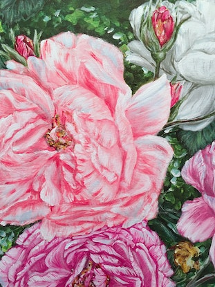 (CreativeWork) SPRING BACK TO LIFE - PEONIES - LIMITED EDITION GICLEE PRINT  Ed. 3 of 100 by HSIN LIN. Print. Shop online at Bluethumb.