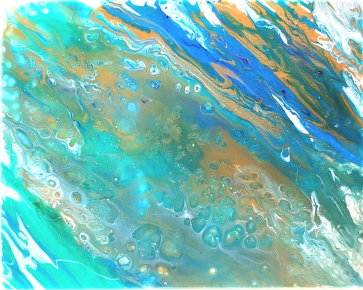 (CreativeWork) The Shallows by Tracey Dawes. Acrylic Paint. Shop online at Bluethumb.