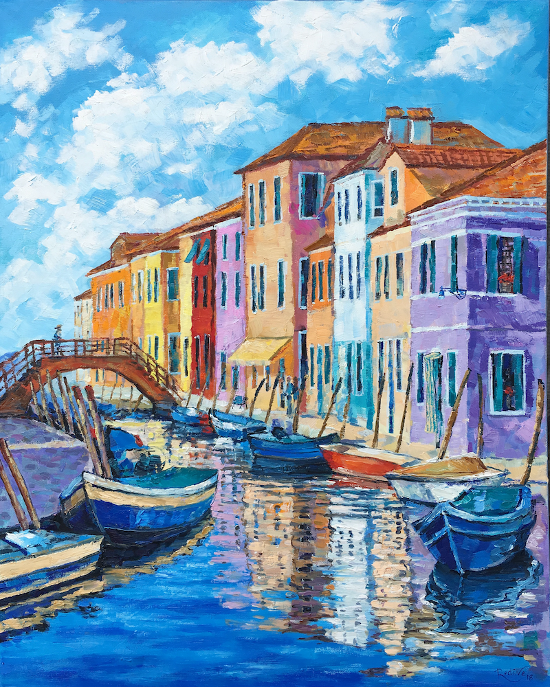 (CreativeWork) Burano, Italy by Irina Redine. Oil Paint. Shop online at Bluethumb.