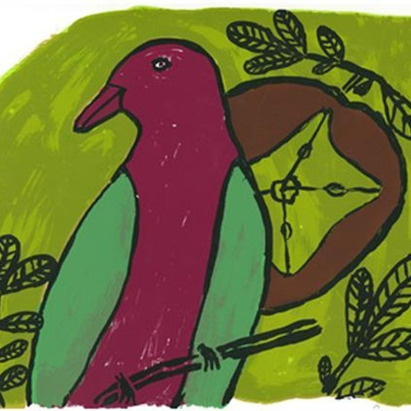 (CreativeWork) Wampoo  Pigeon  10/15 (Limited Edition Screen Print) by Emily Murray. Other Media. Shop online at Bluethumb.