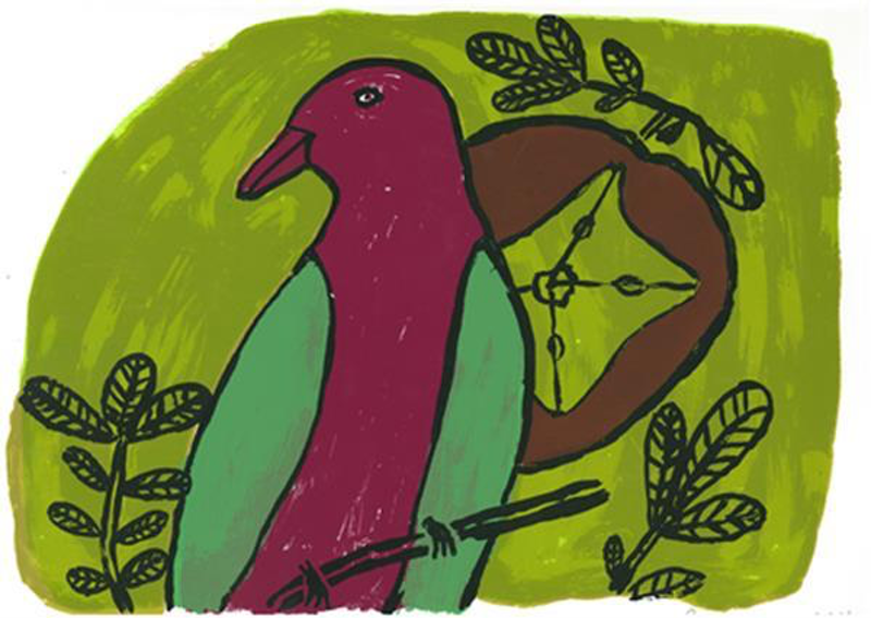(CreativeWork) Wampoo  Pigeon  10/15 (Limited Edition Screen Print) by Emily Murray. other-media. Shop online at Bluethumb.