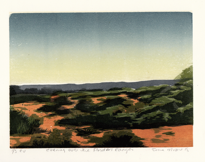 (CreativeWork) evening over the Flinders Ranges Ed. 1 of 1 by Tina Moore. Print. Shop online at Bluethumb.