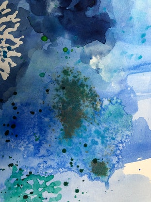 (CreativeWork) Underwater Wonder by Michele Dowe. Watercolour Paint. Shop online at Bluethumb.