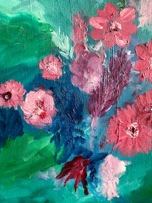 (CreativeWork) Springtime in my garden by Michele Dowe. Oil Paint. Shop online at Bluethumb.