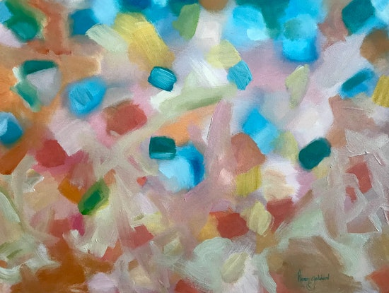 (CreativeWork) Pink Sand by Karen Goddard. Oil Paint. Shop online at Bluethumb.