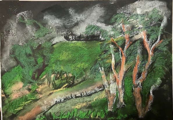 (CreativeWork) Merry Creek by Gabrielle Fawkner. Drawings. Shop online at Bluethumb.