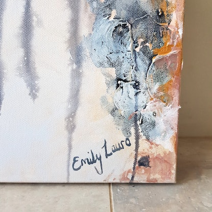 (CreativeWork) Enlightened  by Emily Lauro. Acrylic Paint. Shop online at Bluethumb.