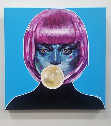 (CreativeWork) Pop Art Series 1 - Pop Star S3 by Kenneth Chu. Acrylic Paint. Shop online at Bluethumb.