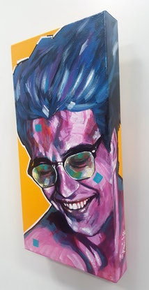 (CreativeWork) Pop Art Series 1 - Pop Star S5 by Kenneth Chu. Acrylic Paint. Shop online at Bluethumb.