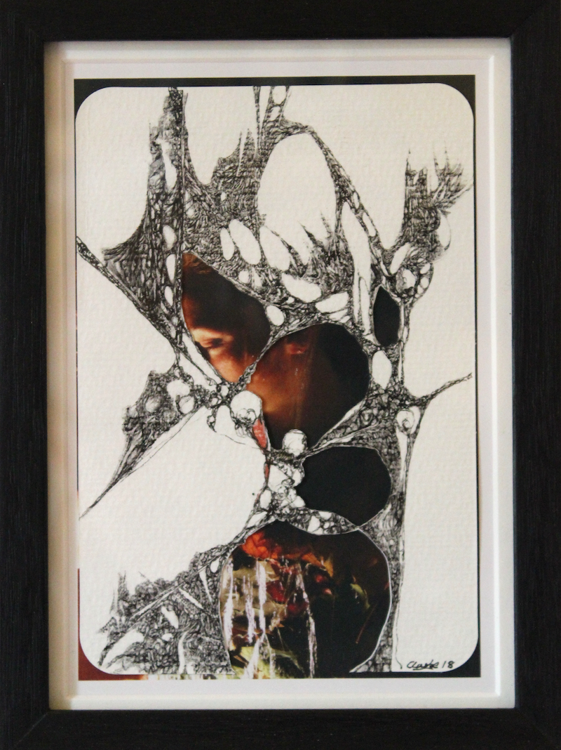 (CreativeWork) Untitled J by Anthony Clarke. Mixed Media. Shop online at Bluethumb.