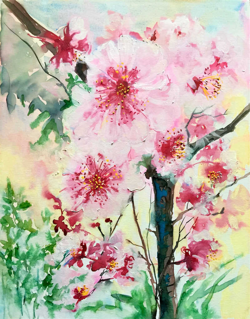 (CreativeWork) Blossom Time by Helen Dubrovich. Watercolour Paint. Shop online at Bluethumb.
