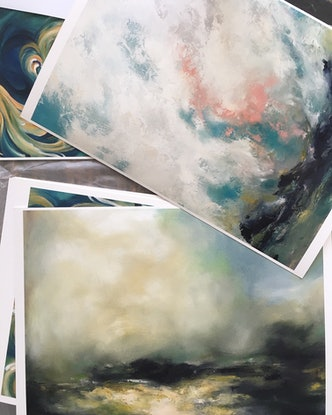 (CreativeWork) Abstract landscape - June - Limited Edition Giclee Print   Ed. 2 of 250 by Lamice Ali. Print. Shop online at Bluethumb.
