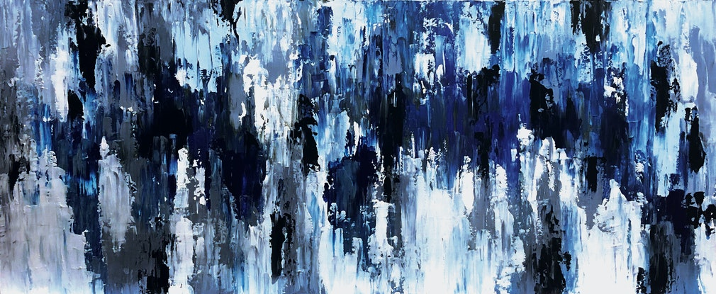 (CreativeWork) Cold Water by Melanie Crawford. Acrylic Paint. Shop online at Bluethumb.