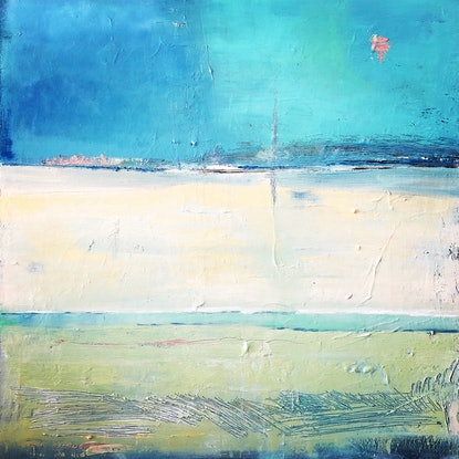 (CreativeWork) A Distant Place by Linda Gleeson. Mixed Media. Shop online at Bluethumb.