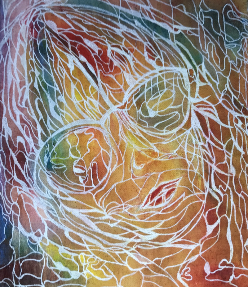 (CreativeWork) Abstract Woman CZ18049 by Carol Zsolt. Acrylic Paint. Shop online at Bluethumb.