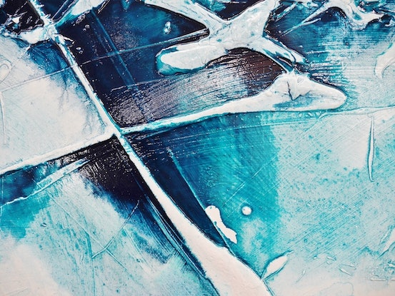 (CreativeWork) Turquoise Rush 160cm x 100cm  Turquoise Blue Green Infused Ink White Abstract Textured Acrylic With Gloss Finish  by _Franko _. Acrylic Paint. Shop online at Bluethumb.
