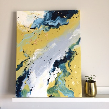 (CreativeWork) Breathe Out Breathe In - Diptych - Baroque Series by Melinda Katotriatis. Acrylic Paint. Shop online at Bluethumb.