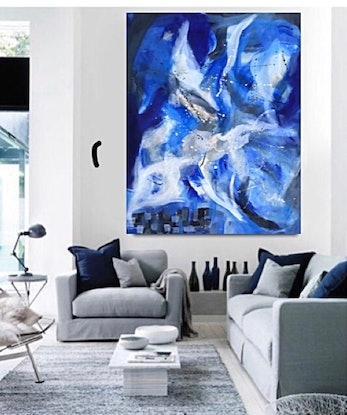 (CreativeWork) Ice blue by Tracey Berthold. Mixed Media. Shop online at Bluethumb.