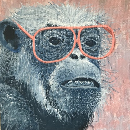 """(CreativeWork) Set of 3    """"Aw F*** it!"""" said the Three Wise Monkeys Finally Giclee Print Ed. 2 of 100 by Jayne Curle-The Self Conscious Extrovert. Print. Shop online at Bluethumb."""