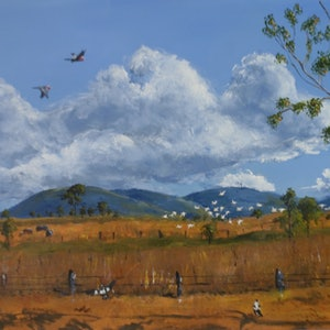 (CreativeWork) My view of Boat Mountain by darryl eustace. arcylic-painting. Shop online at Bluethumb.