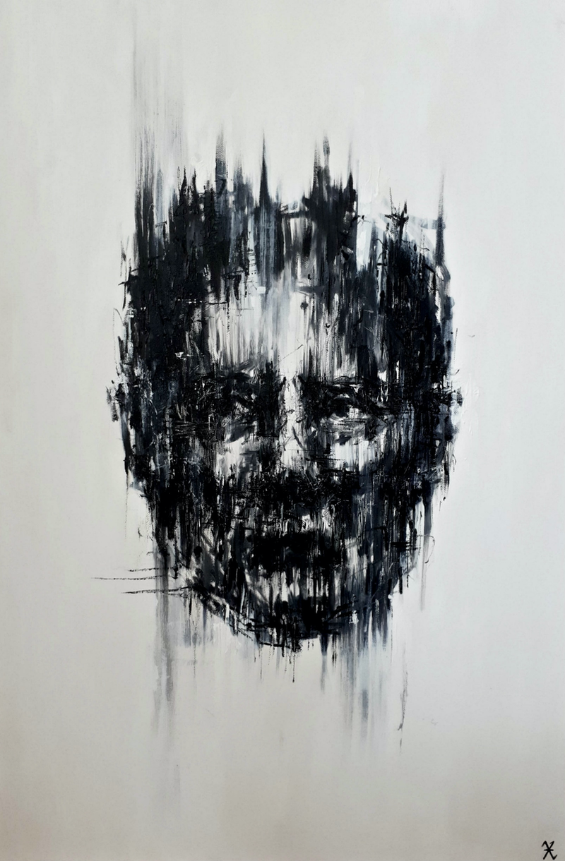 (CreativeWork) Trapped 2 by Victoria ter Kuile. Acrylic Paint. Shop online at Bluethumb.