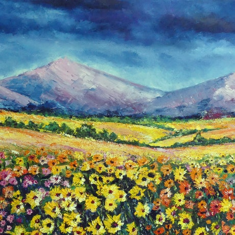 (CreativeWork) Namaqualand Dreaming Series, No 3 by Barry Angus. Oil Paint. Shop online at Bluethumb.