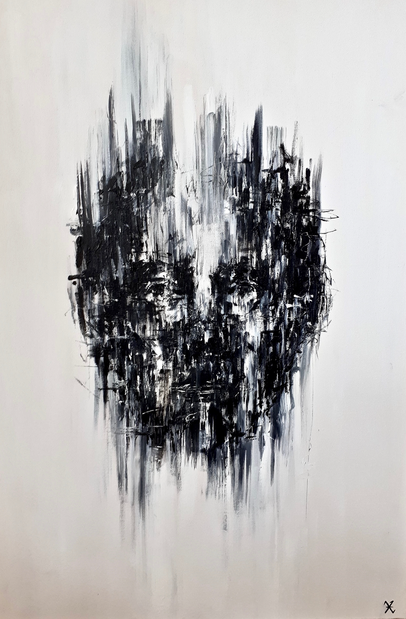 (CreativeWork) Trapped 3 by Victoria ter Kuile. Acrylic Paint. Shop online at Bluethumb.