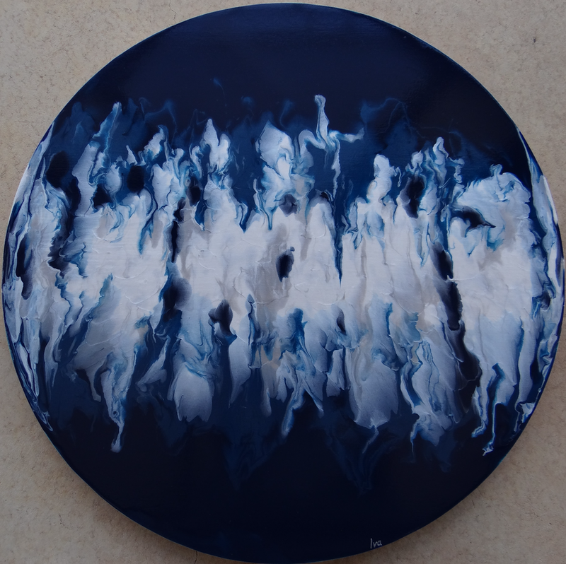(CreativeWork) Gathering by Iva Hancevic-Grabic. Acrylic Paint. Shop online at Bluethumb.
