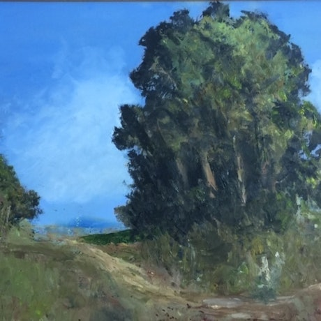 (CreativeWork) TRACK THROUGH BUSH COUNTRY by Bob Murphy. Oil Paint. Shop online at Bluethumb.