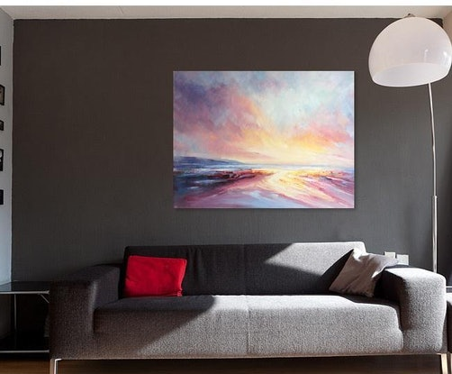 (CreativeWork) A brand new day #12 by Liliana Gigovic. Oil Paint. Shop online at Bluethumb.