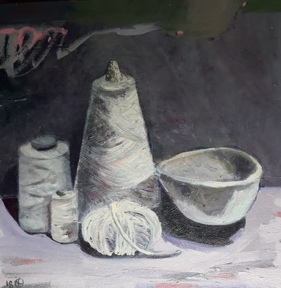 (CreativeWork) Make Something by Kathleen Agius. Oil Paint. Shop online at Bluethumb.