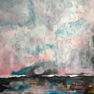 (CreativeWork) Low tide  by Oliver Baxter. arcylic-painting. Shop online at Bluethumb.