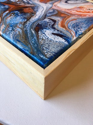 (CreativeWork) Cross Currents by Lorraine Smart. Acrylic Paint. Shop online at Bluethumb.