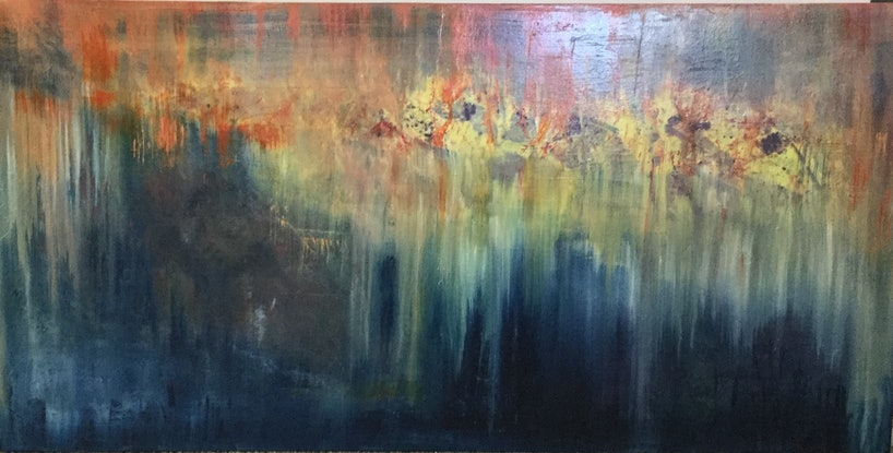 (CreativeWork) The light has come Into the world  by Catherine Coster. Oil Paint. Shop online at Bluethumb.