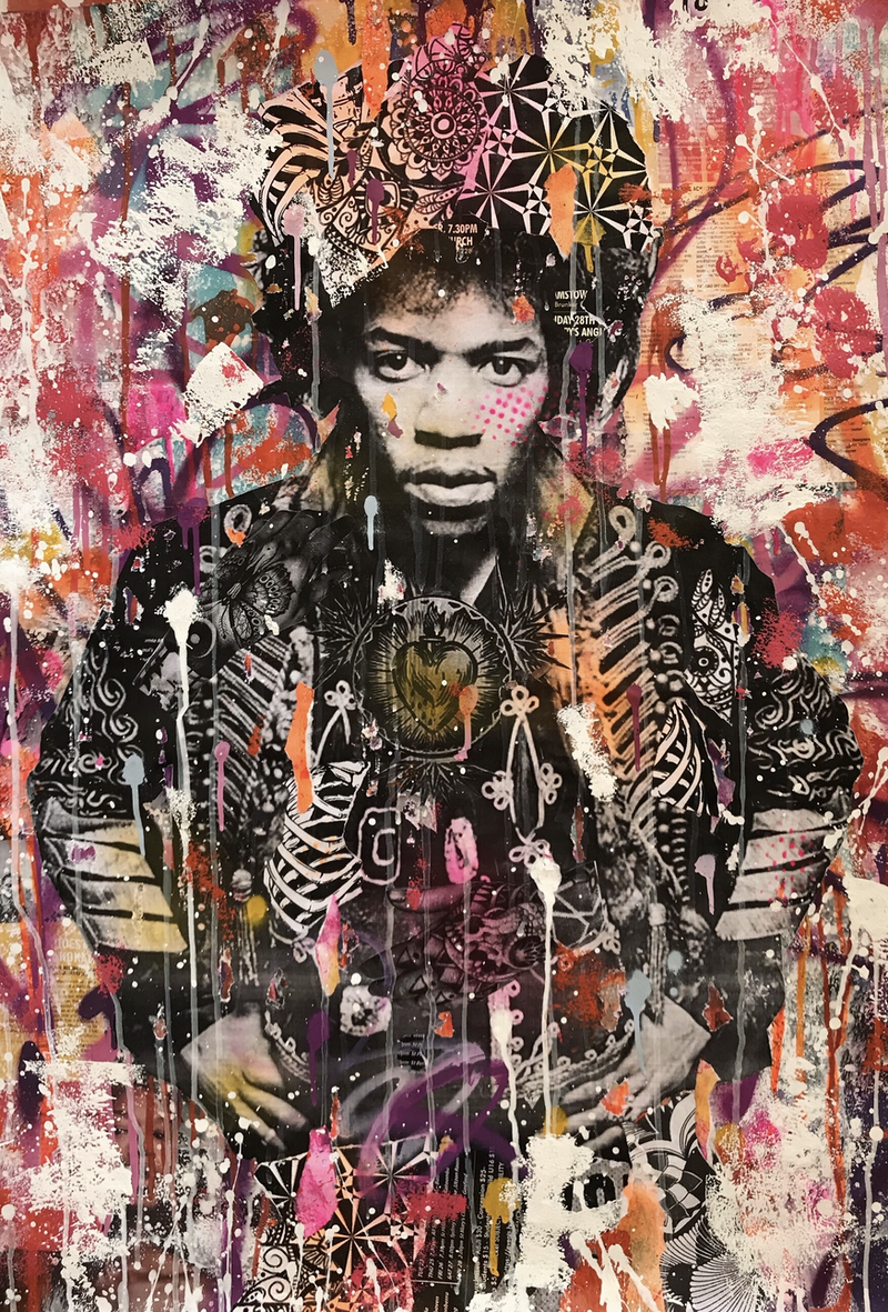 (CreativeWork) 1969 by Cold Ghost. Mixed Media. Shop online at Bluethumb.