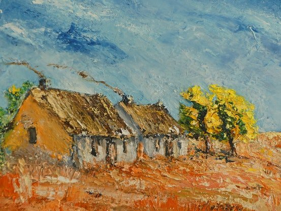 (CreativeWork) Namaqualand Dreaming Series No 4 by Barry Angus. Oil Paint. Shop online at Bluethumb.