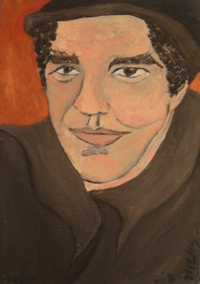 """(CreativeWork) """"Frank"""" (mfl 43 of 230) by elij foote. Oil Paint. Shop online at Bluethumb."""