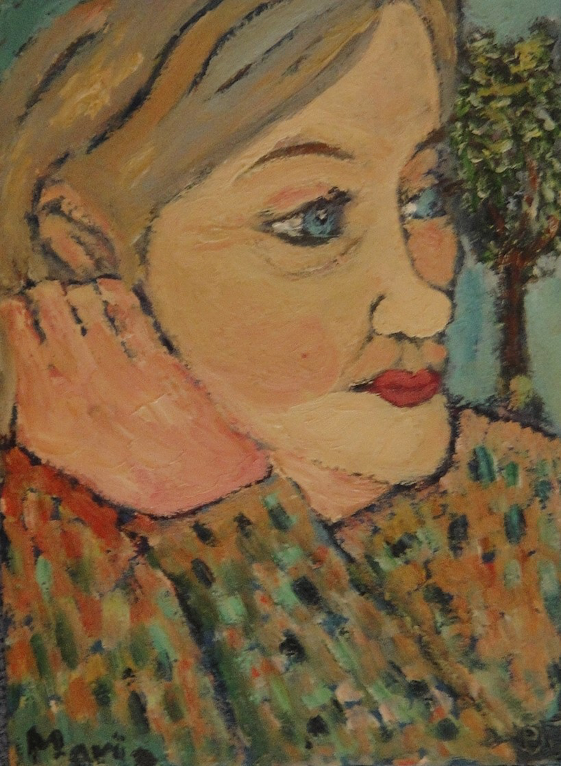 """(CreativeWork)  """"Maria"""" (mfl 103 of 230) by elij foote. Oil Paint. Shop online at Bluethumb."""