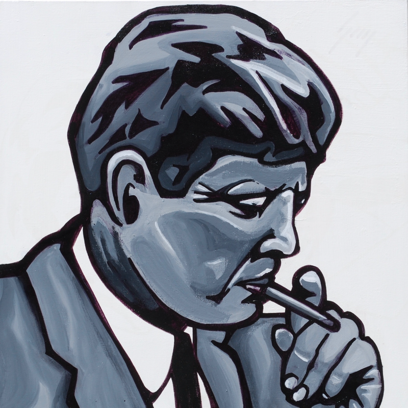 (CreativeWork) JFK by Hunter Beaucanon. Acrylic Paint. Shop online at Bluethumb.