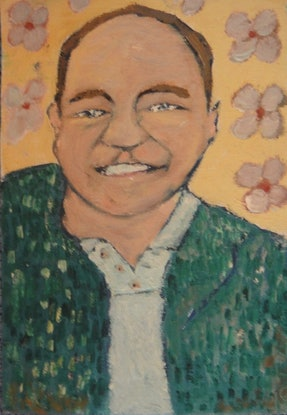"""(CreativeWork) """"Roy"""" (mfl 106 of 230) by elij foote. Oil Paint. Shop online at Bluethumb."""