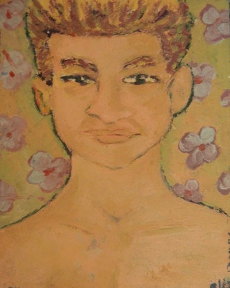 "(CreativeWork) ""Ethan"" (mfl 107 of 230) by elij foote. Oil Paint. Shop online at Bluethumb."