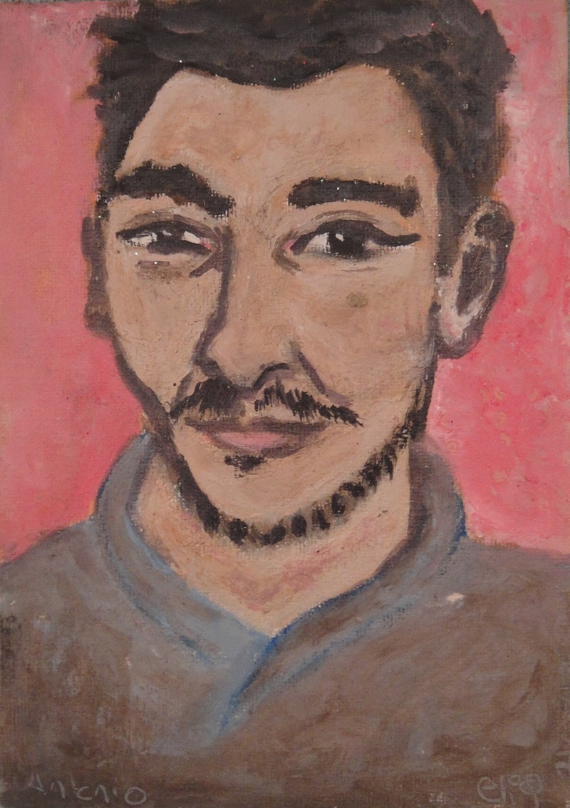 "(CreativeWork) ""Antonio"" (mfl 140 of 230) by elij foote. Oil Paint. Shop online at Bluethumb."