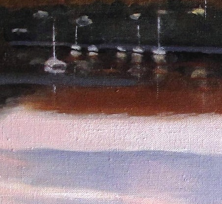 (CreativeWork) Sunset over Canaipa passage by Abramo Papp. Oil Paint. Shop online at Bluethumb.