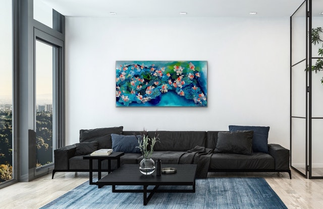 (CreativeWork) Underwater Garden by Janelle Bowra. Acrylic Paint. Shop online at Bluethumb.