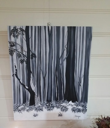 (CreativeWork) SNOW GUMS by Sandra Messner. Oil Paint. Shop online at Bluethumb.