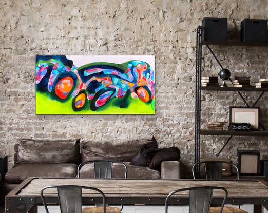(CreativeWork) City Chaos by Janelle Bowra. Other Media. Shop online at Bluethumb.
