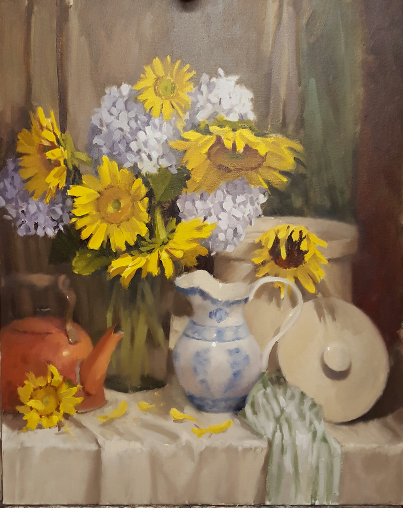 (CreativeWork) Good Company by Jeffrey Murphy. Oil Paint. Shop online at Bluethumb.