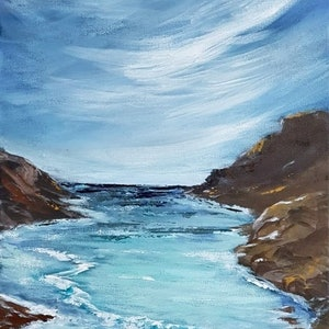 (CreativeWork) INCOMING TIDE by Leigh Elks. acrylic-painting. Shop online at Bluethumb.