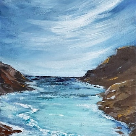 (CreativeWork) INCOMING TIDE by Leigh Elks. Acrylic Paint. Shop online at Bluethumb.